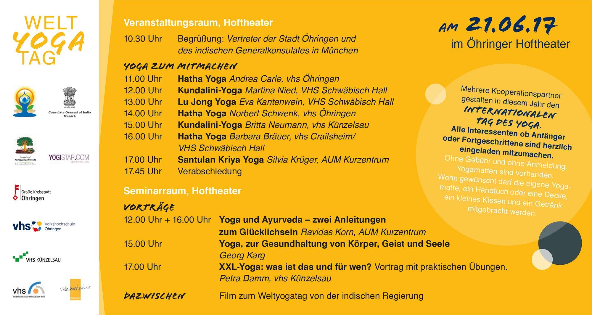 Welt Yoga Tag 2017 in Öhringen
